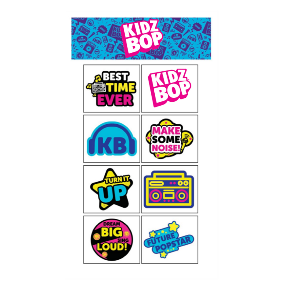KIDZ BOP Temporary Tattoo Set