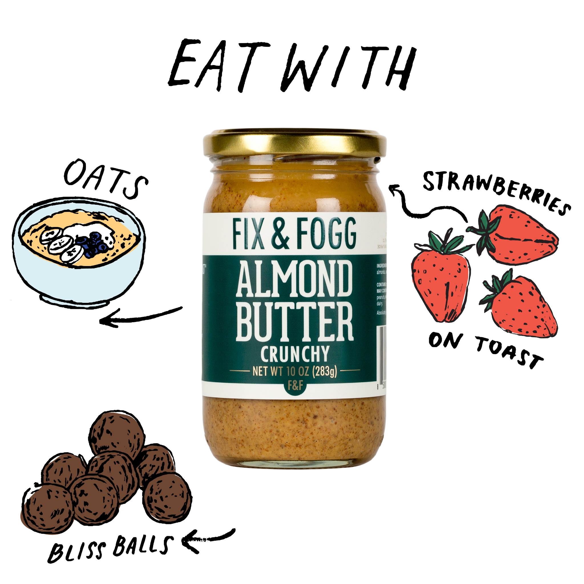 Eat with Crunchy Almond 10oz