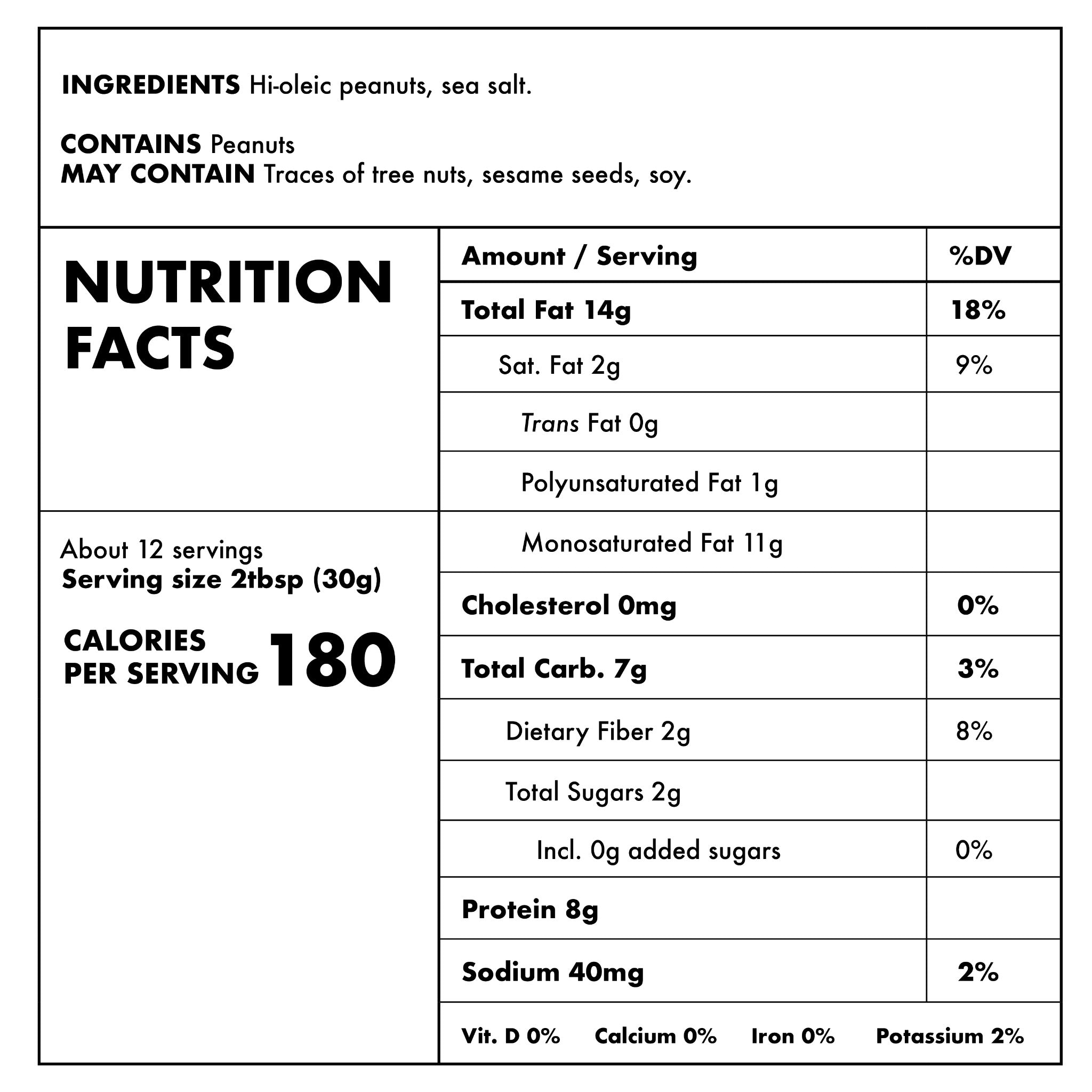 Smooth Nutritional Information