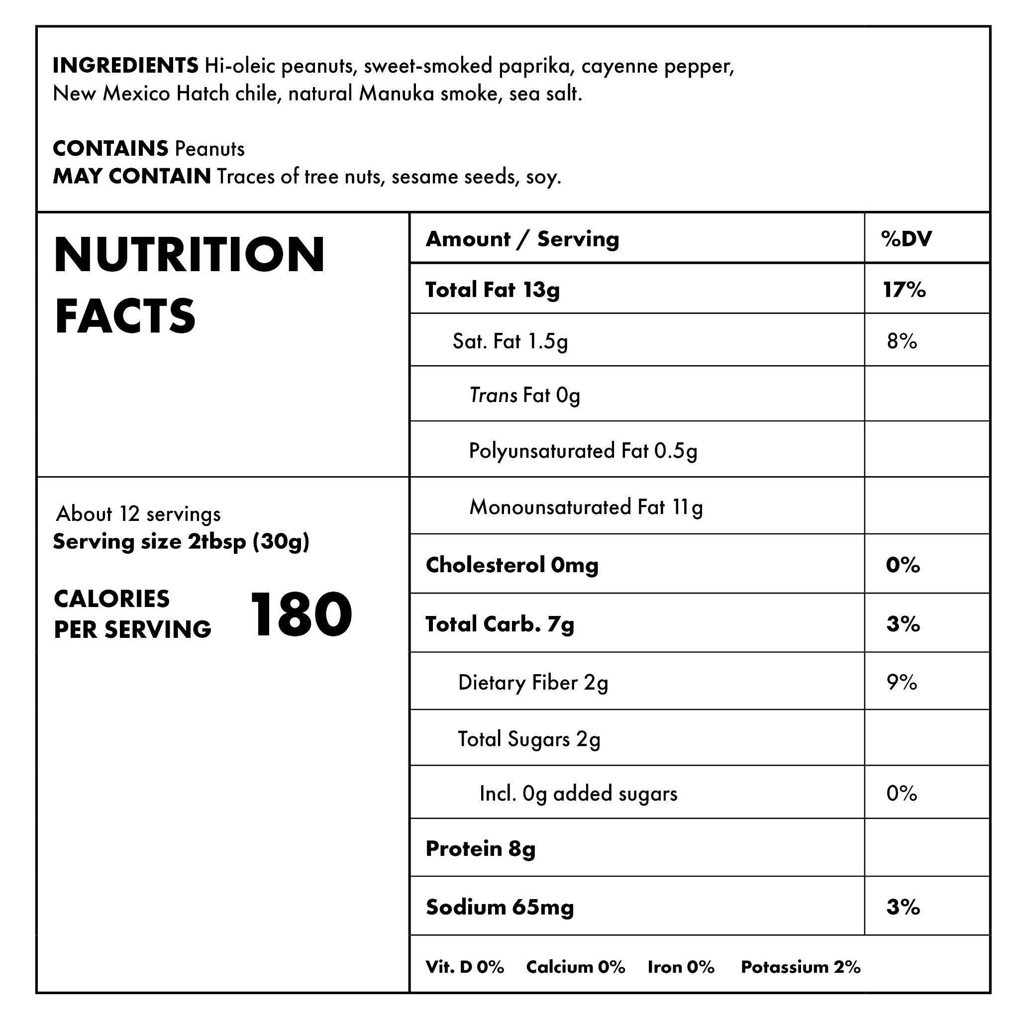 Smoke and Fire Nutritional Information
