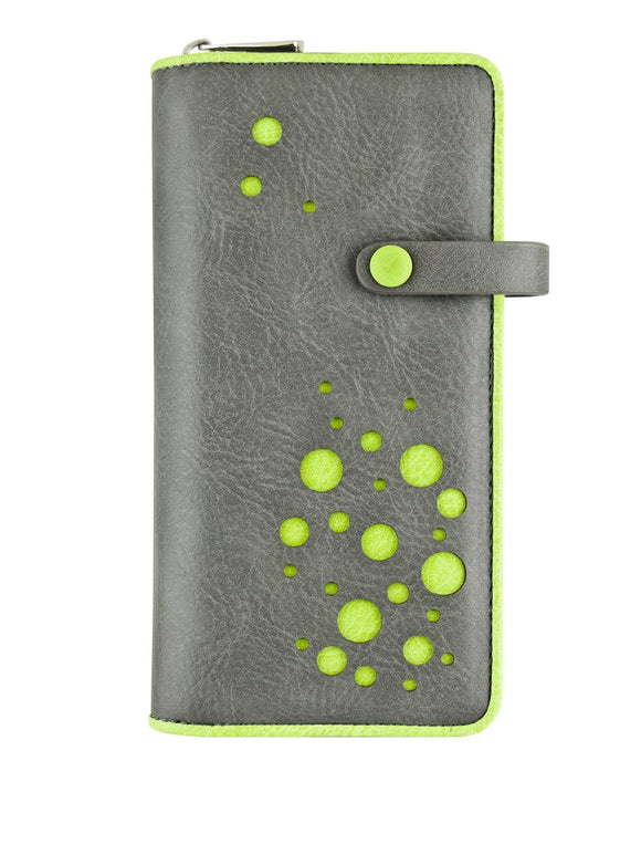 Bubbly clutch wallet green