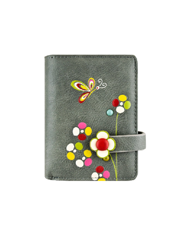 Butterfly small wallet grey