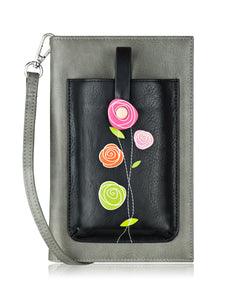 Roses iSmart Purse Black