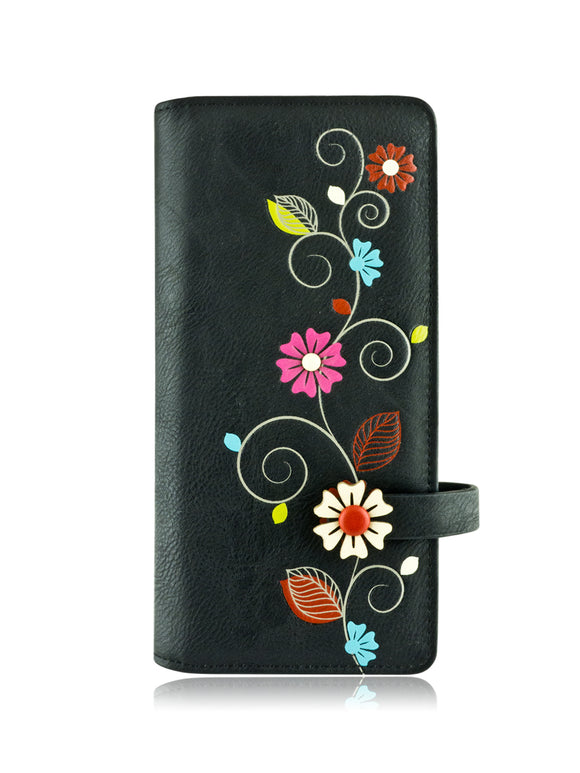Vine long wallet black