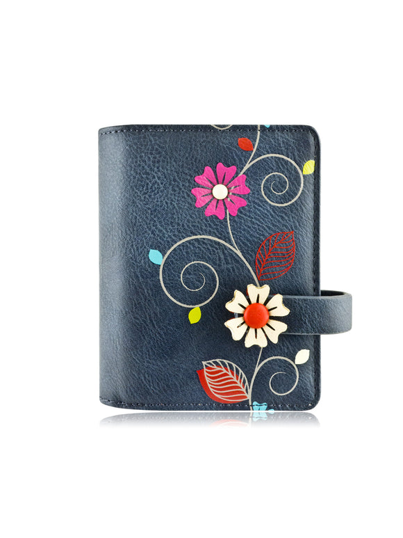 Vine small wallet blue
