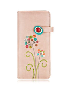 Scent long wallet pink