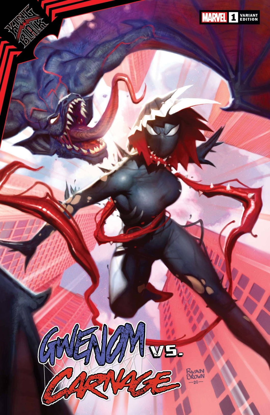 King in Black Gwenom vs Carnage #1 Ryan Brown Variant (2021)