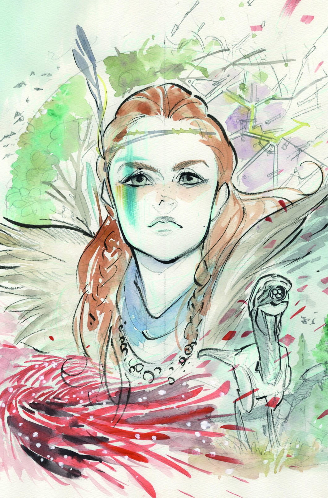 Horizon Zero Dawn #1 Peach Momoko Exclusive Virgin Sketch Variant (2020)