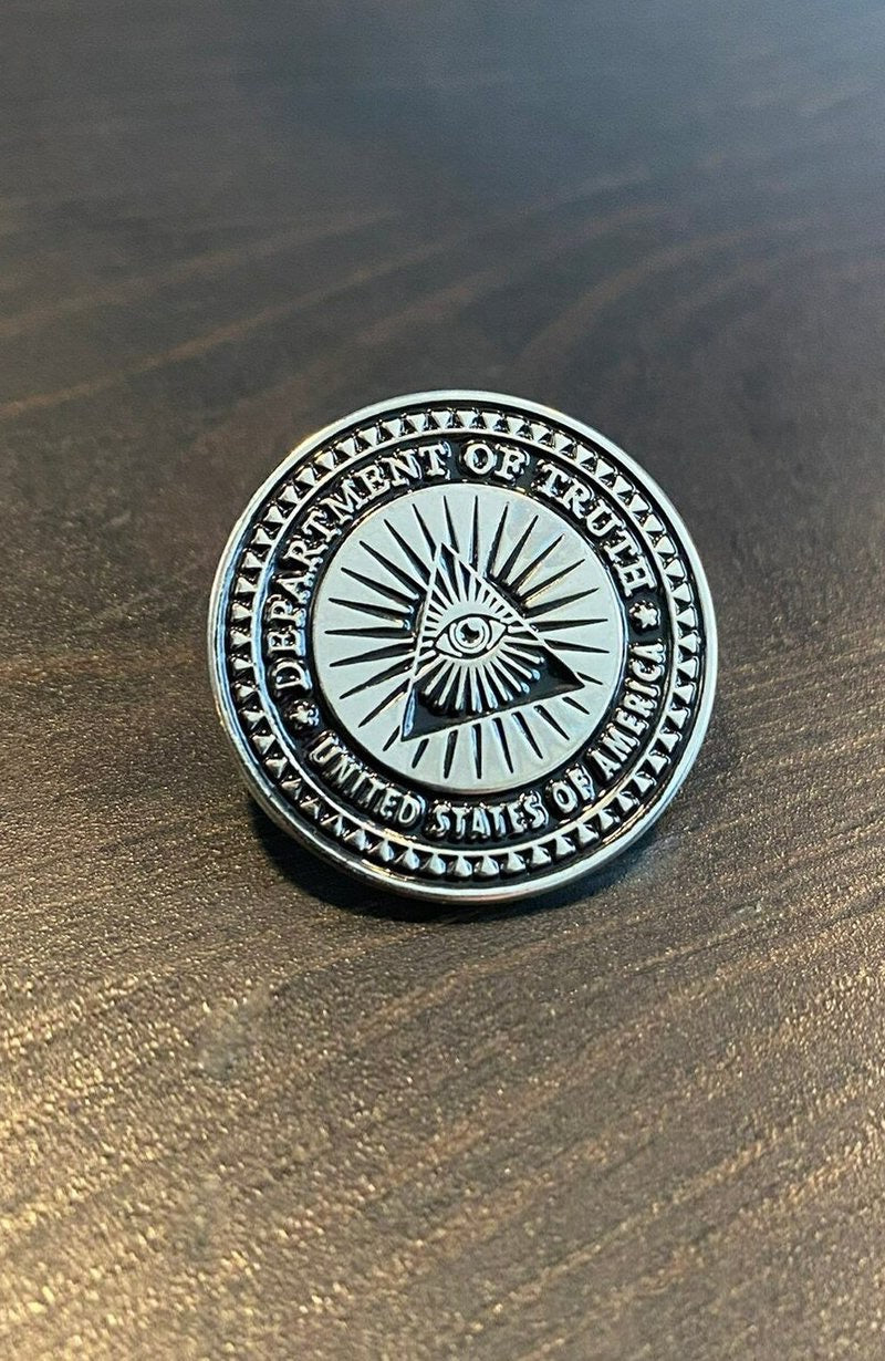 The Department of Truth Logo Pin