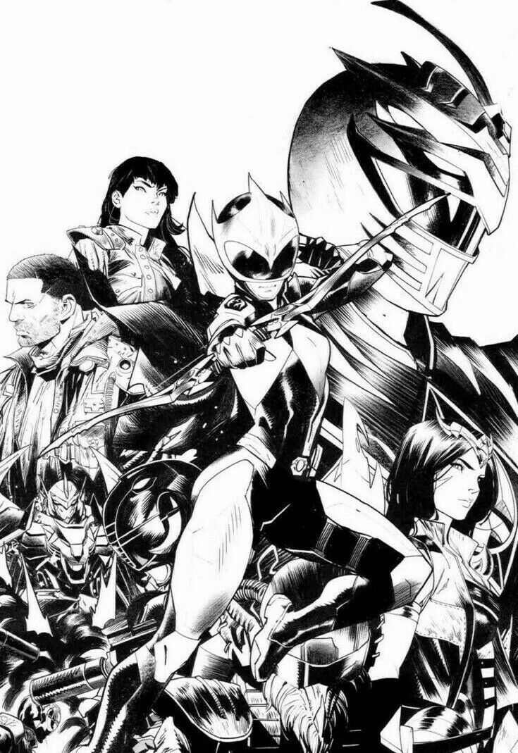 Power Rangers Ranger Slayer #1 B&W 1:25 Virgin Incentive Variant (2020)