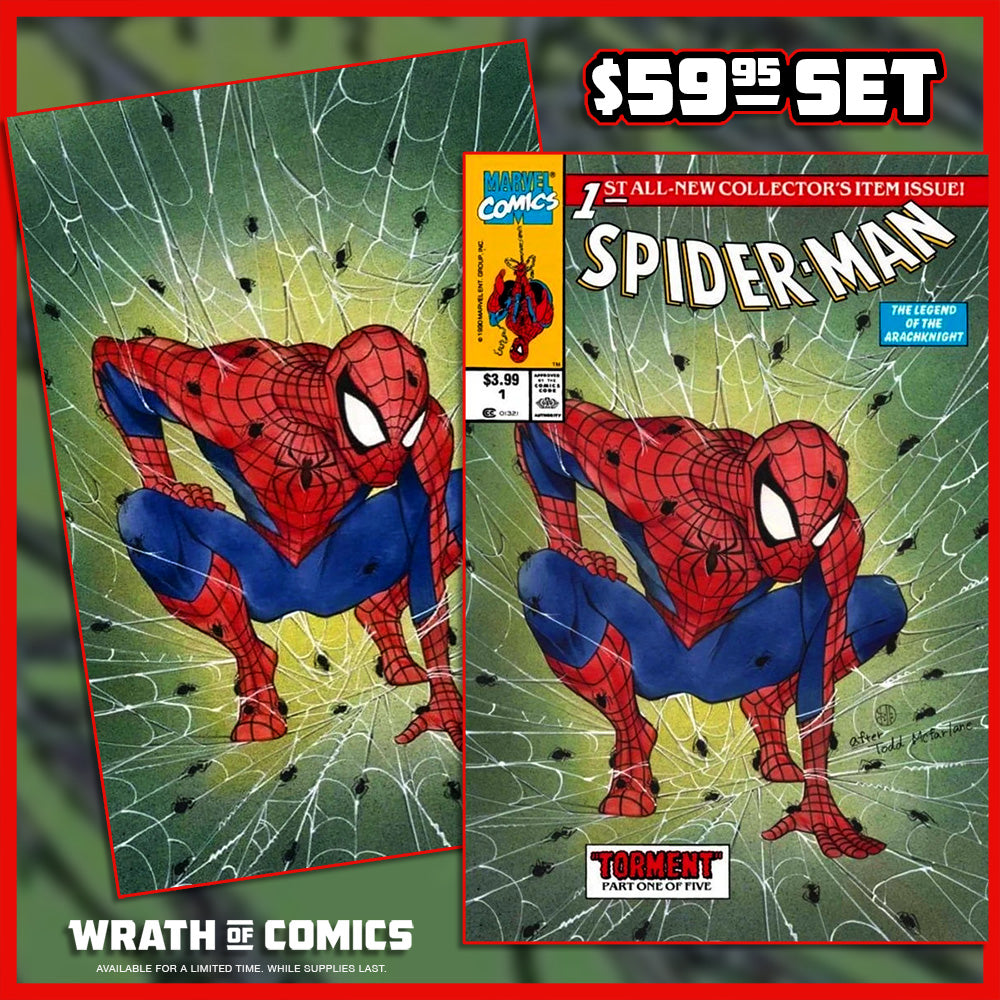 Spider-Man #1 Peach Momoko Trade & Virgin Variant Set Todd McFarlane Homage (2020)