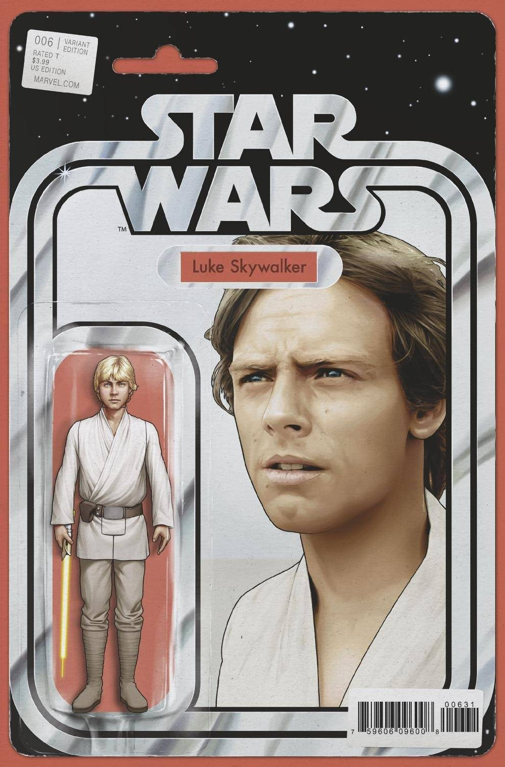 Star Wars #6 Christopher Yellow Lightsaber Action Figure Variant (2020)