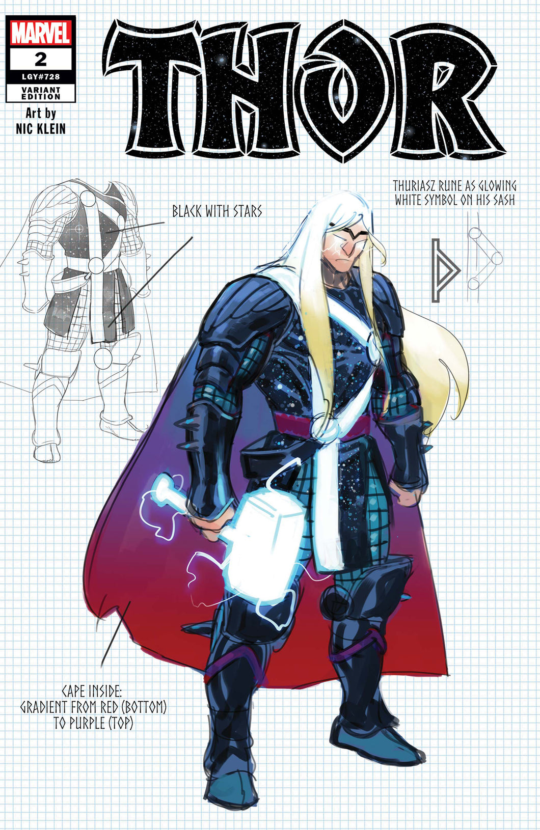 Thor #2 Design Variant Strange Academy Preview Black Winter (2020)