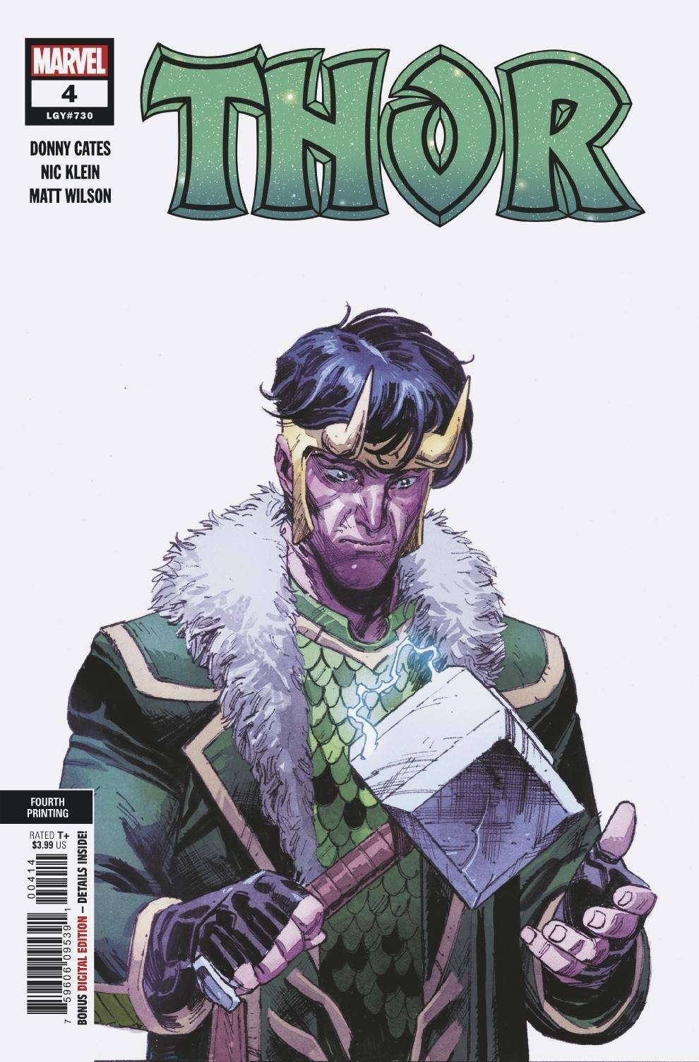 Thor #4 4th Print Variant Black Winter Donny Cates (2020)