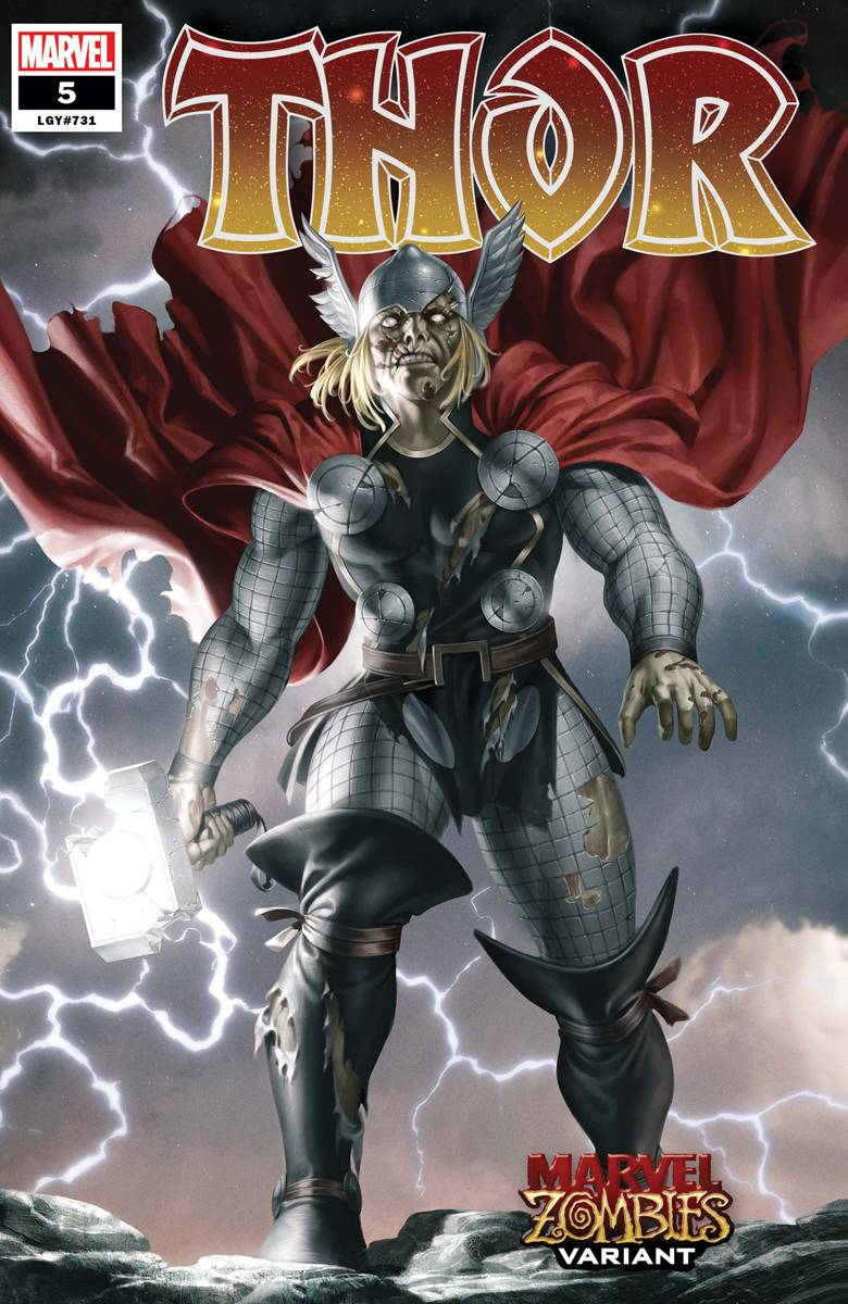 Thor #5 Black Winter Yoon Marvel Zombies Variant Donny Cates (2020)