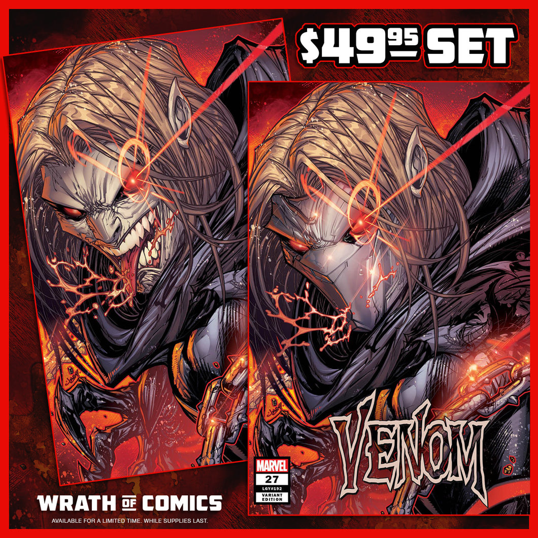 Venom #27 Jonboy Meyers Trade & Virgin Unmasked Variant Set 1st Codex (2020)