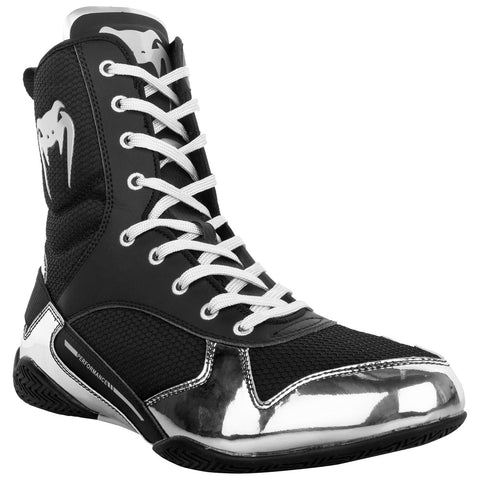 Venum Elite Boxing Shoes - Blk/Silver