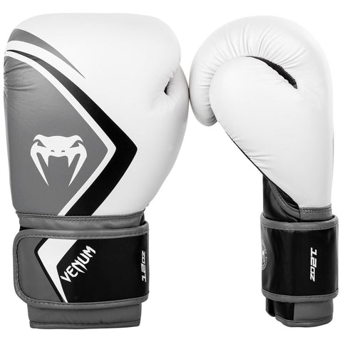 Venum Boxing Gloves Contender 2.0 - White/Grey-Black - 12 oz