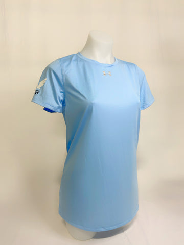 Under Armour Woman Locker T-shirt w/ Sherbatov Logo - Baby Blue
