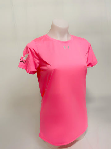Under Armour Woman Locker T-shirt w/ Sherbatov Logo - Pink