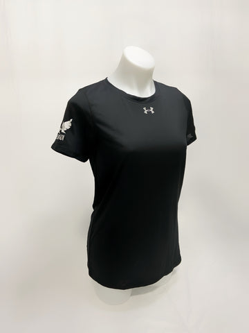 Under Armour Woman Locker T-shirt w/ Sherbatov Logo - Black