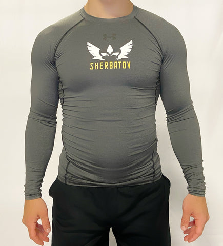 Under Armour Long Sleeve Rashguard w/ Sherbatov Logo - Grey
