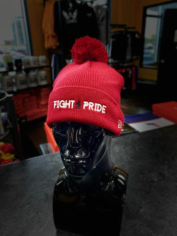 New Era x FIGHT4PRIDE Tuque / winter hat - red