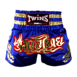 Twins Special Muay Thai Shorts - Blue/Gold