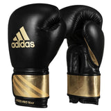 Adidas Pro Leather Bag Gloves - Black/Gold - 12 oz