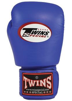 Twins Special Leather Boxing Gloves - Blue