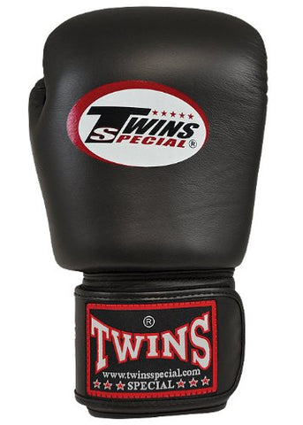 Twins Special Leather Boxing Gloves - Black