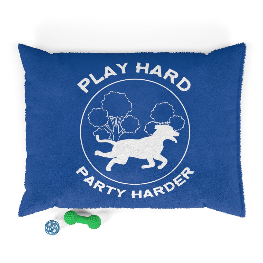 Play Hard, Party Harder Doggy Bed