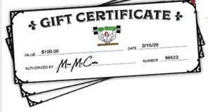 ALL NEW Gift Certificates