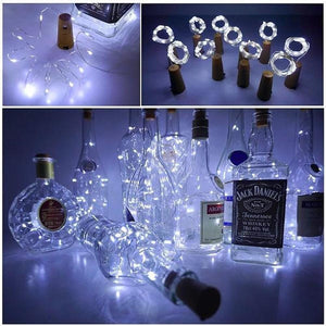 Hibote™  Bottle Lights Cork Shape Lights for Wine Bottle Starry String Lights Xmas