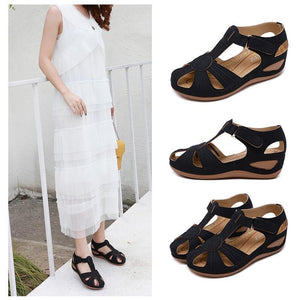 Hibote™ Hollow Out Klettkeile Sandalen