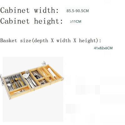 Pantry Dish Drainer Kitchen Cabinet Storage Basket