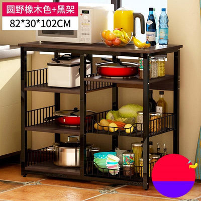 Microwave Oven Home Storage Shelf  Kitchen Cabinet