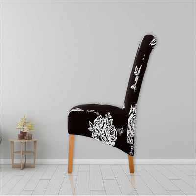 XL Europe Style Seat Big Covers Printed Long Back Chair Cover King Back Chair Covers Hotel Party Banquet Housse De Chaise