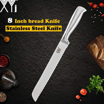 8 Pcs Stainless Steel Kitchen Knife Set