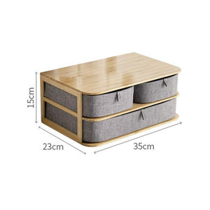 Wooden Storage Box Cosmetic Organizer