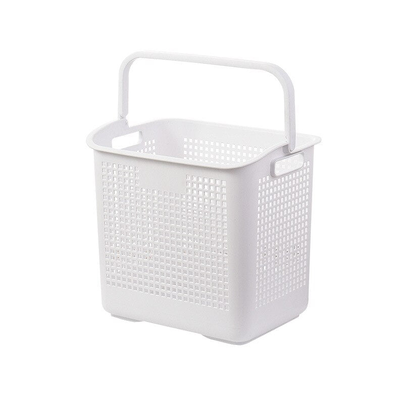 Laundry storage basket bathroom shelf