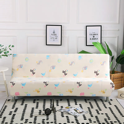 Length 160-190cm Sofa Bed Folding Stretch Slipcover  Without Armrest