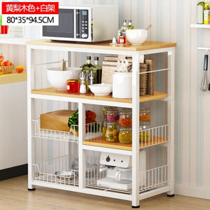 Modern Islands Kitchen  Multi-layer Microwave Oven Storage Rack