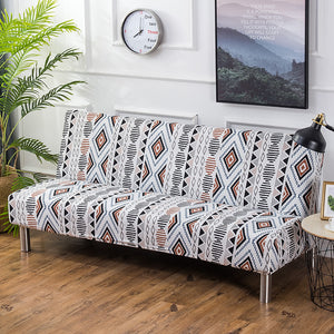 160-190cm  Armless Print Flowers Sofa Bed Cover