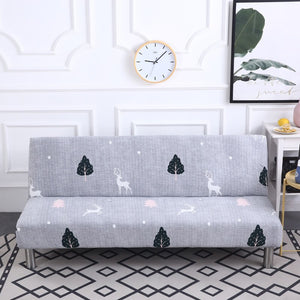 Printed  Armless  Folding Stretch  Sofa Bed Cover