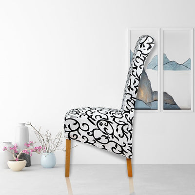 High Design Long Back Printed XL Europe Style Seat Chair Covers