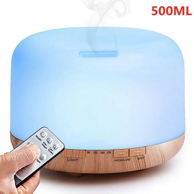 500ML Ultrasonic LED Lamp Aroma Oil Diffuser
