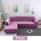 1/2/3/4 Seater Plush Fabric Sofa Cover