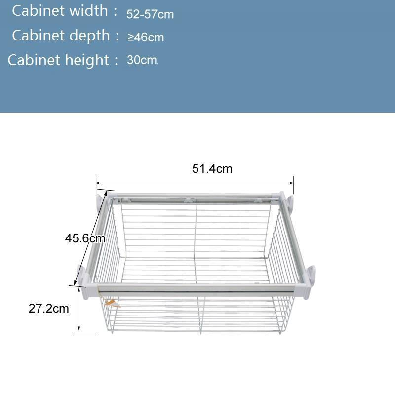 Home Adjustable Closet Organizer Basket