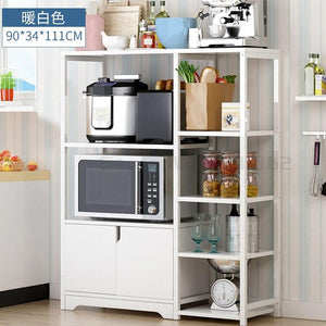 Multi-layer thickened household microwave oven dish shelf